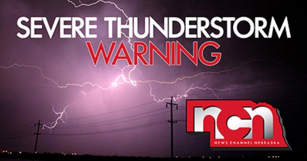 Severe weather warnings for Nebraska