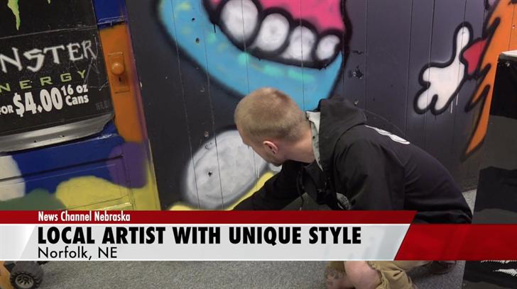 Local artist paints in unique style