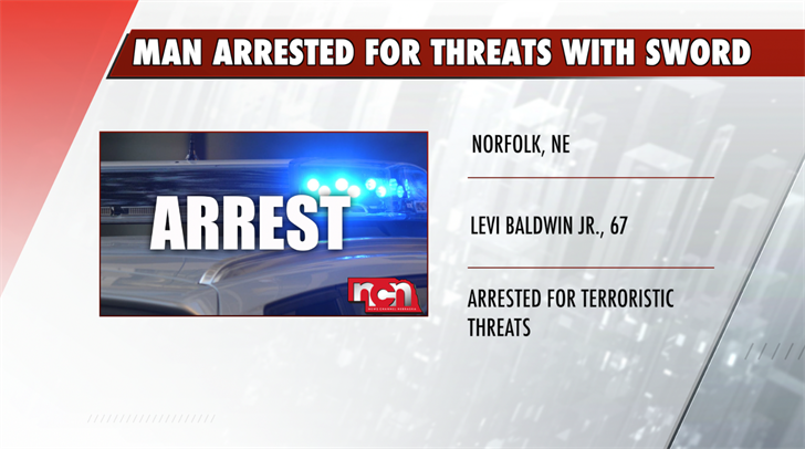 Norfolk man arrested for threats with sword