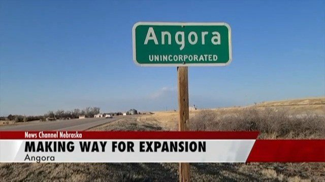 Old town buildings in Angora leveled for highway expansion