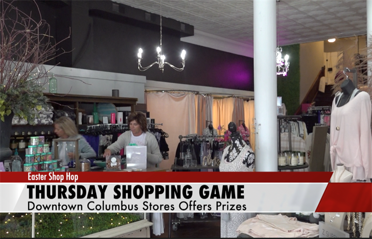 Shop for prizes in Columbus on Thursday