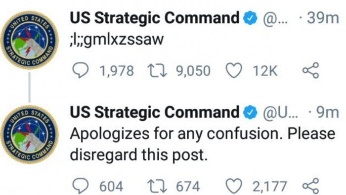 Cryptic military tweet was no code; it was toddler gibberish