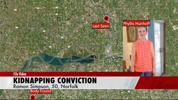 Norfolk man convicted for role in kidnapping, death of Yankton woman