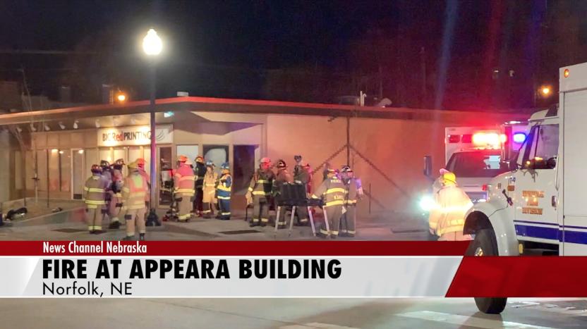 Fire in downtown Norfolk