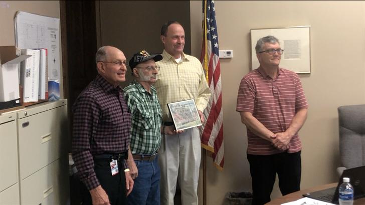 Fairbury Korean War veteran earns county Veteran of the Month honor