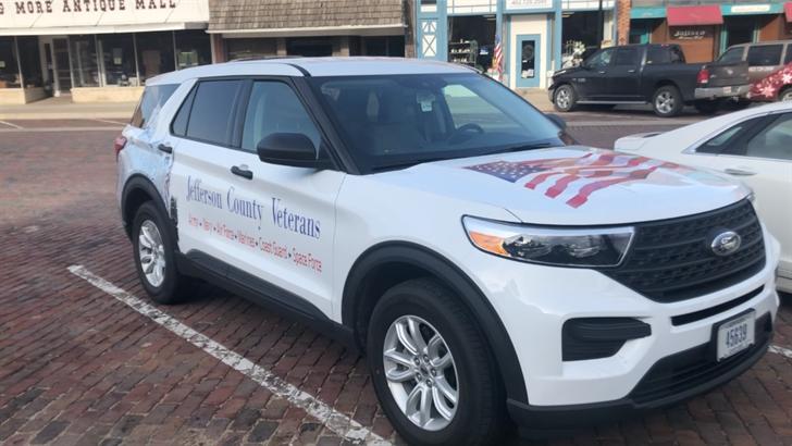Jefferson County Veterans Service Office gets new vehicle, custom wrap