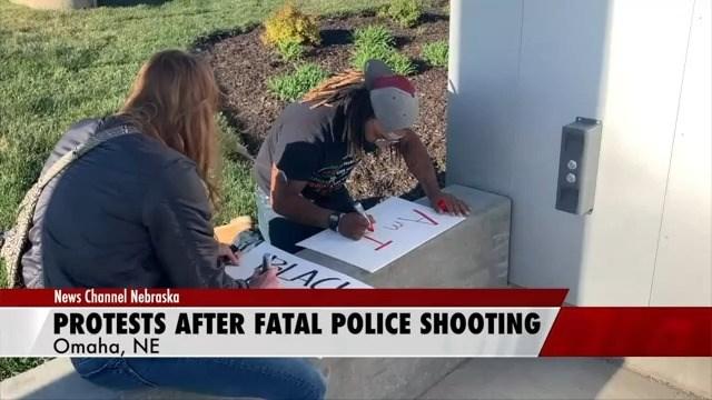 Omaha protestors respond to Daunte Wright shooting