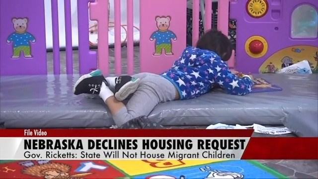 Nebraska governor declines to help house migrant children