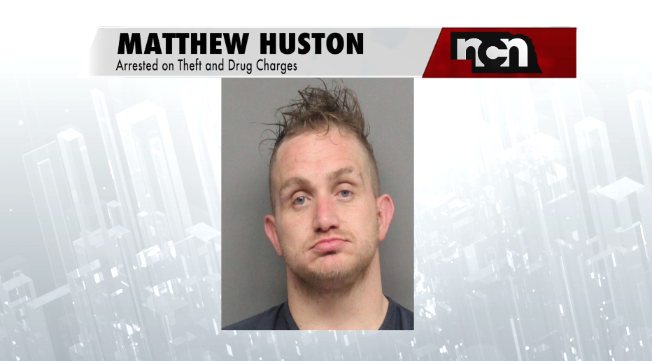 Man arrested on drug, theft charges after TV is stolen from hotel