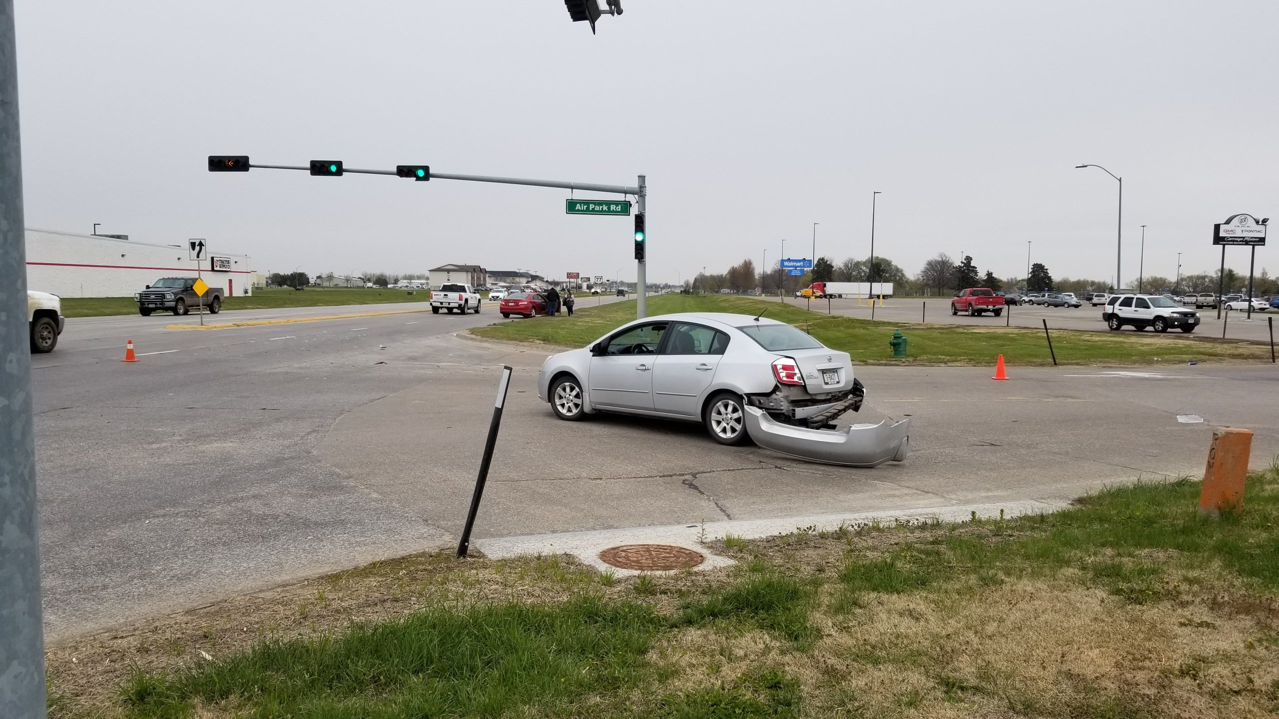 Two-car collision slows traffic, in north Beatrice
