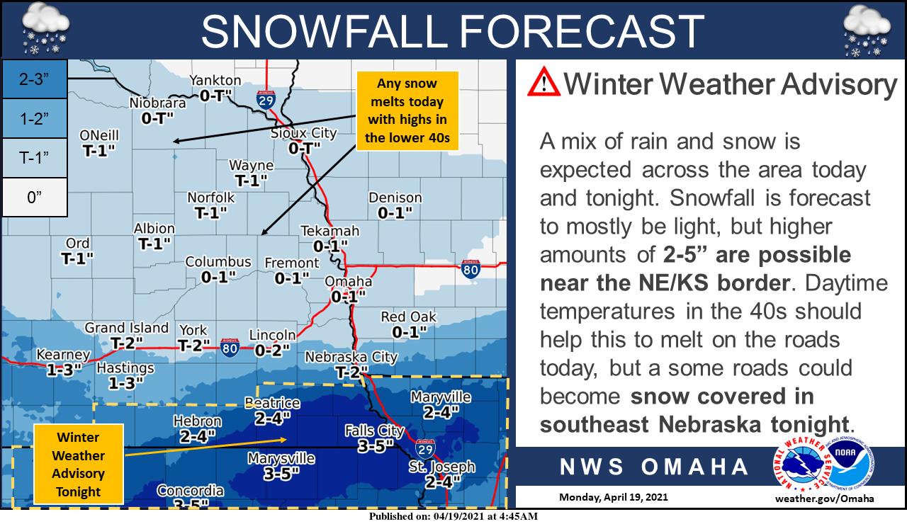 Last shot of snow for southeast Nebraska, northeast Kansas