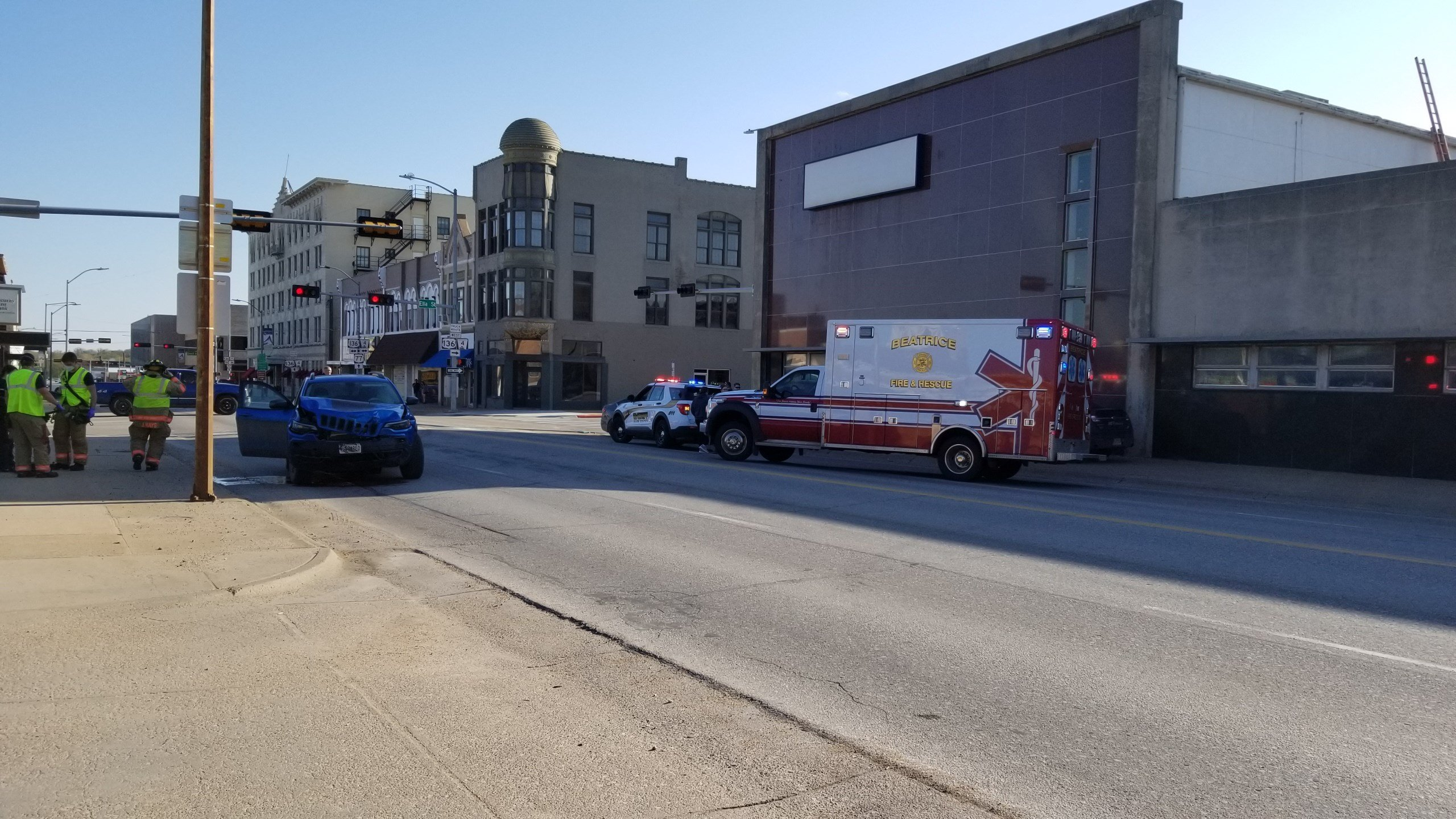 Beatrice emergency personnel sent to two accidents, early Sunday evening