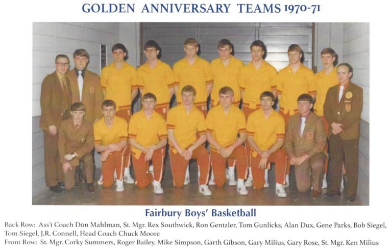 '71 Fairbury boys basketball champs honored for golden anniversary