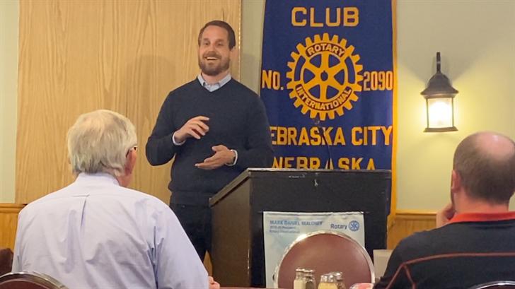Presentation on Labor Slavery at Nebraska City Rotary