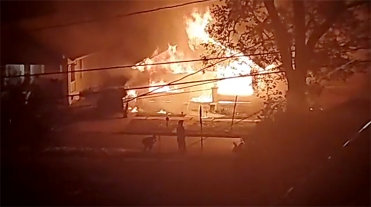 Neighbor credited with saving life during Fairbury fire