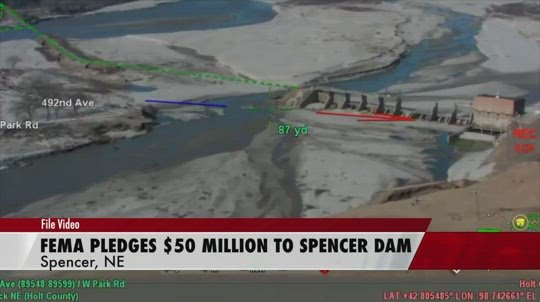 FEMA funds supporting repairs to Spencer Dam