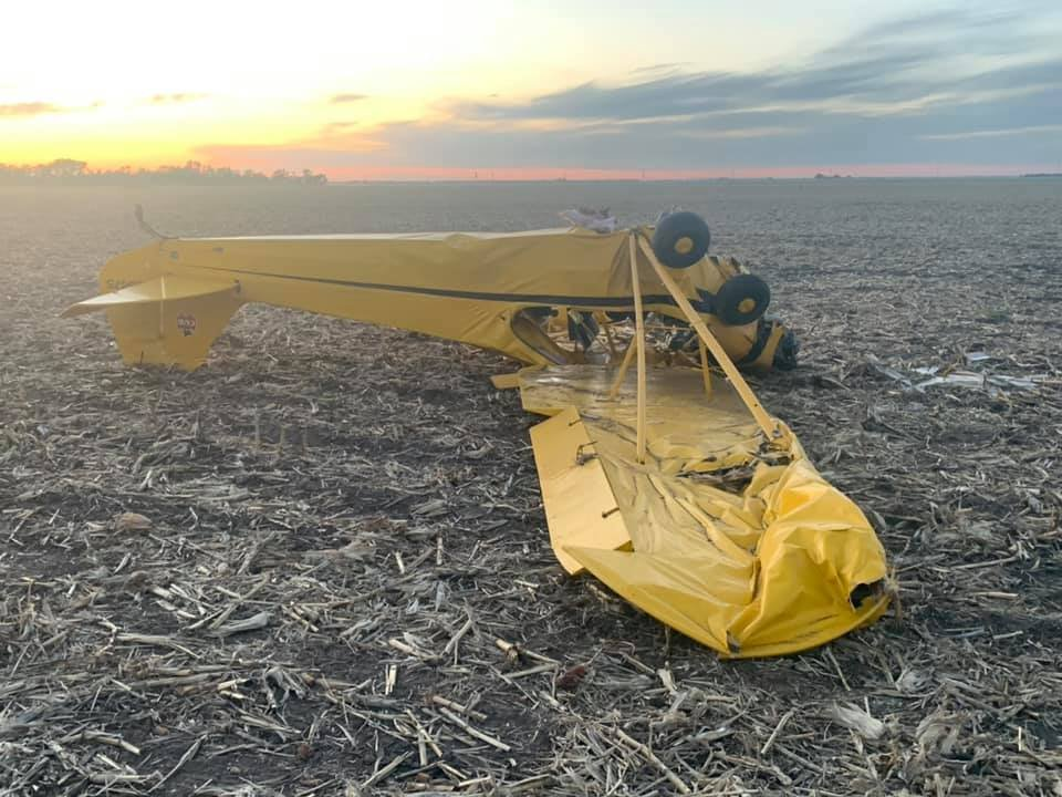 Unmanned plane crashes in Merrick County