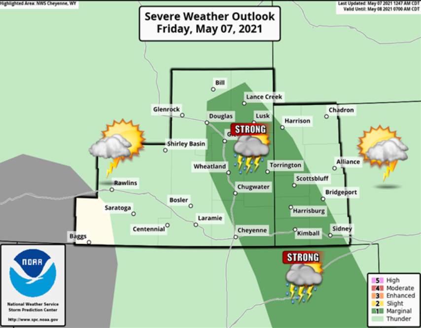 Thunderstorms possible Friday afternoon in Panhandle