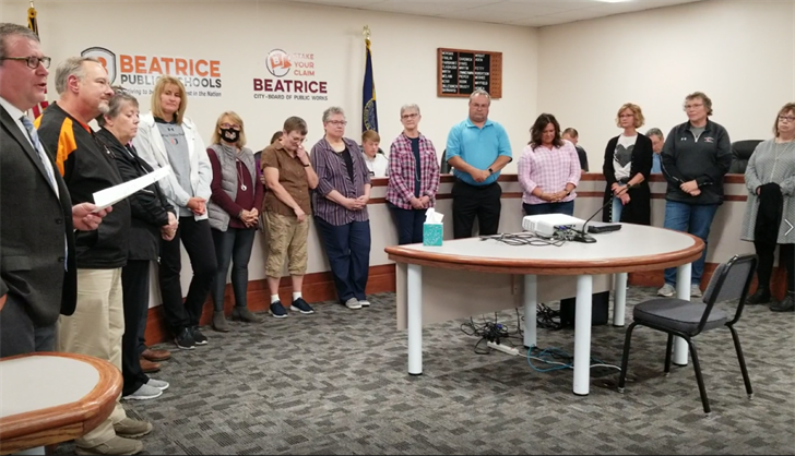 Beatrice School Board approves contracts, honors retiring staff