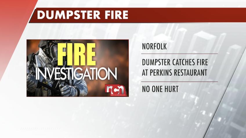 Dumpster fire causes damage outside Norfolk restaurant