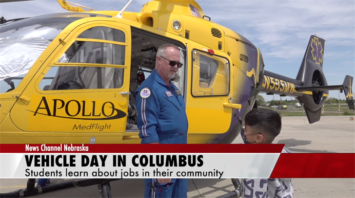 Vehicle Day: Students learn about jobs in their community
