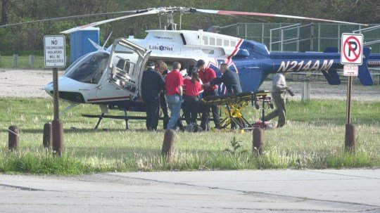 Helicopter, firefighters and more participate in paramedic training