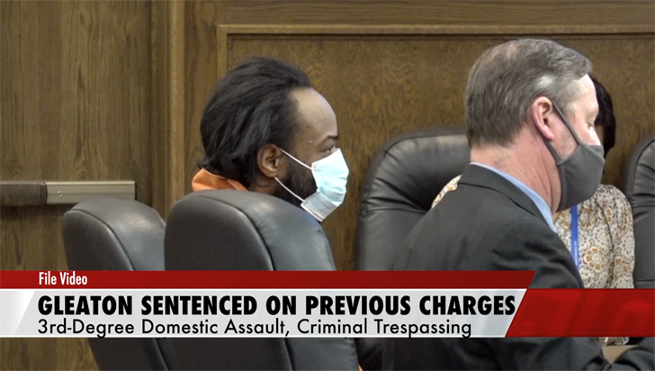Gleaton sentenced on assault, trespass charges