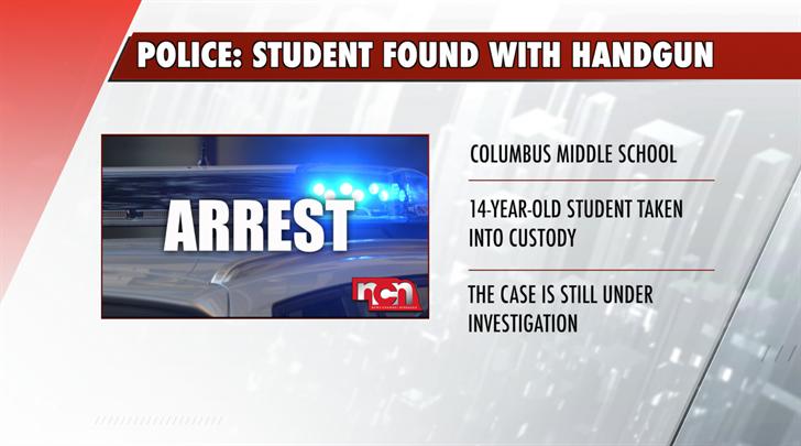 Columbus Middle School student found with handgun