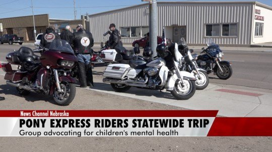 Pony Express Riders drive across state for children's mental health awareness