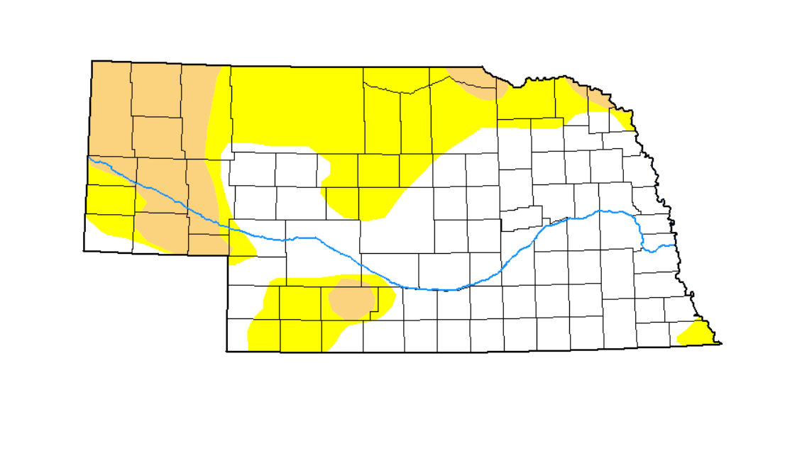 Drought monitor shows improving conditions in Nebraska