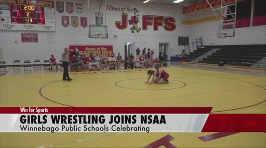 Celebrating girls wrestling in NSAA