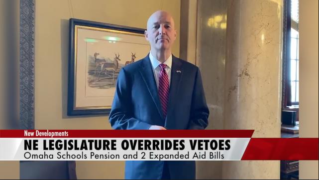 Vetoes overridden by Nebraska Legislature