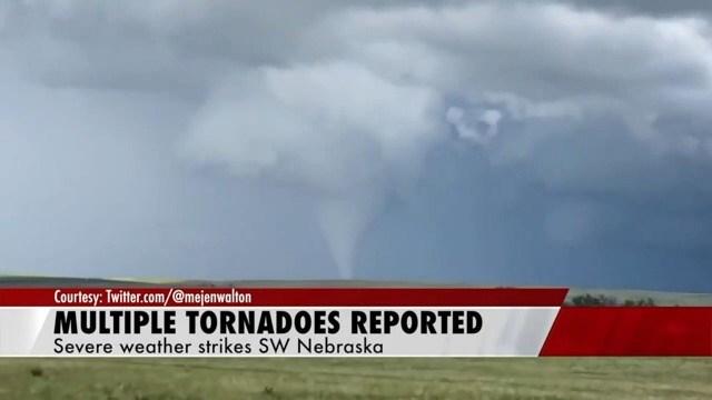 Tornados strike central, western Nebraska