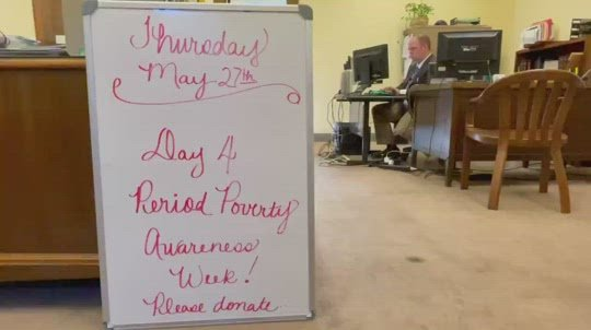 Sen. Blood facilitating period supply drive for Period Poverty Awareness Week