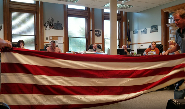Gage County officials take heat for non-placement of American Flags