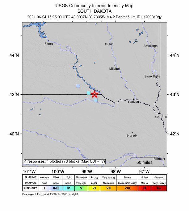 Two earthquakes reported in northern Nebraska Friday