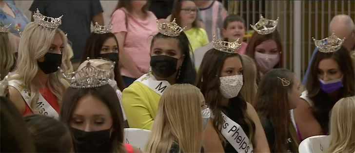 Opening ceremony for the Miss Nebraska competition