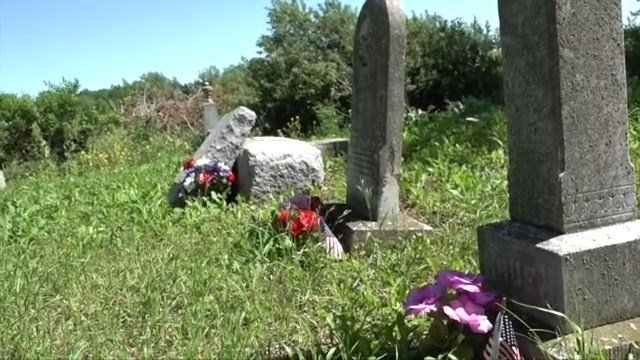 Motorcyclists defend cemetery