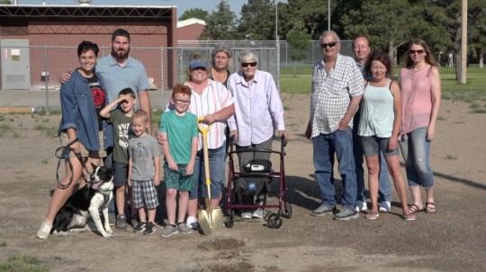 Hartzler family breaks ground on basketball court honoring late family member
