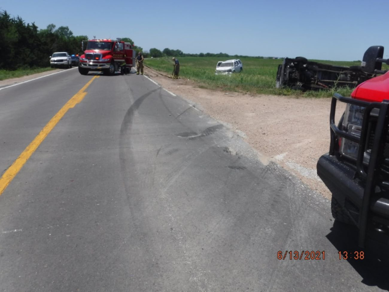 Pickup, sport utility vehicle collide near Filley