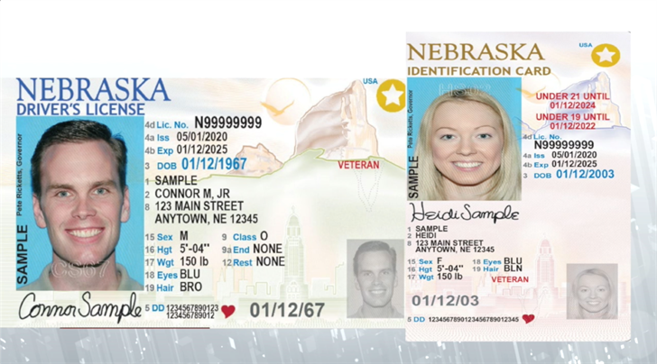 Nebraska DMV announces new drivers license, identification card designs