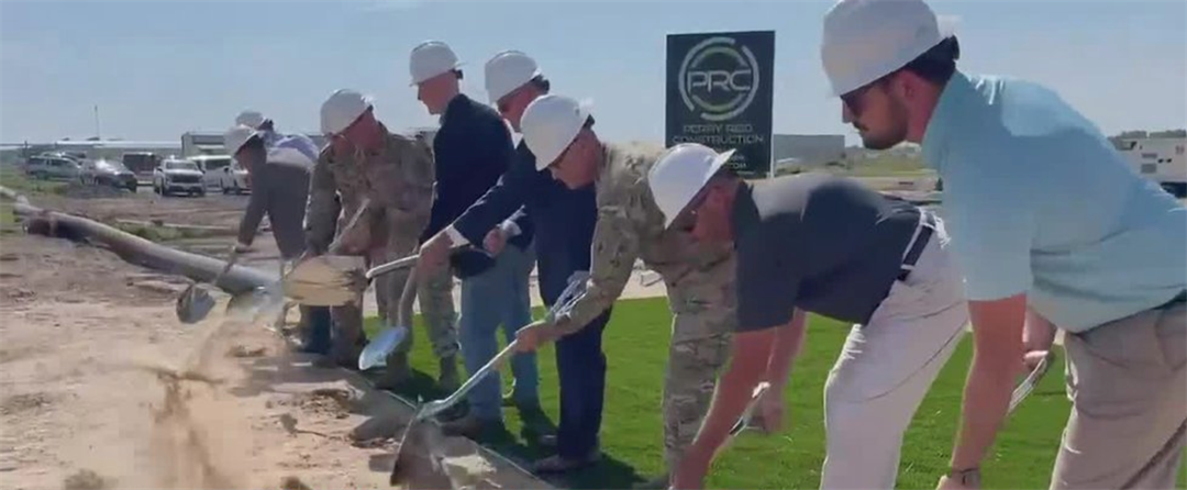 Breaking ground for the Nebraska National Guard in North Platte