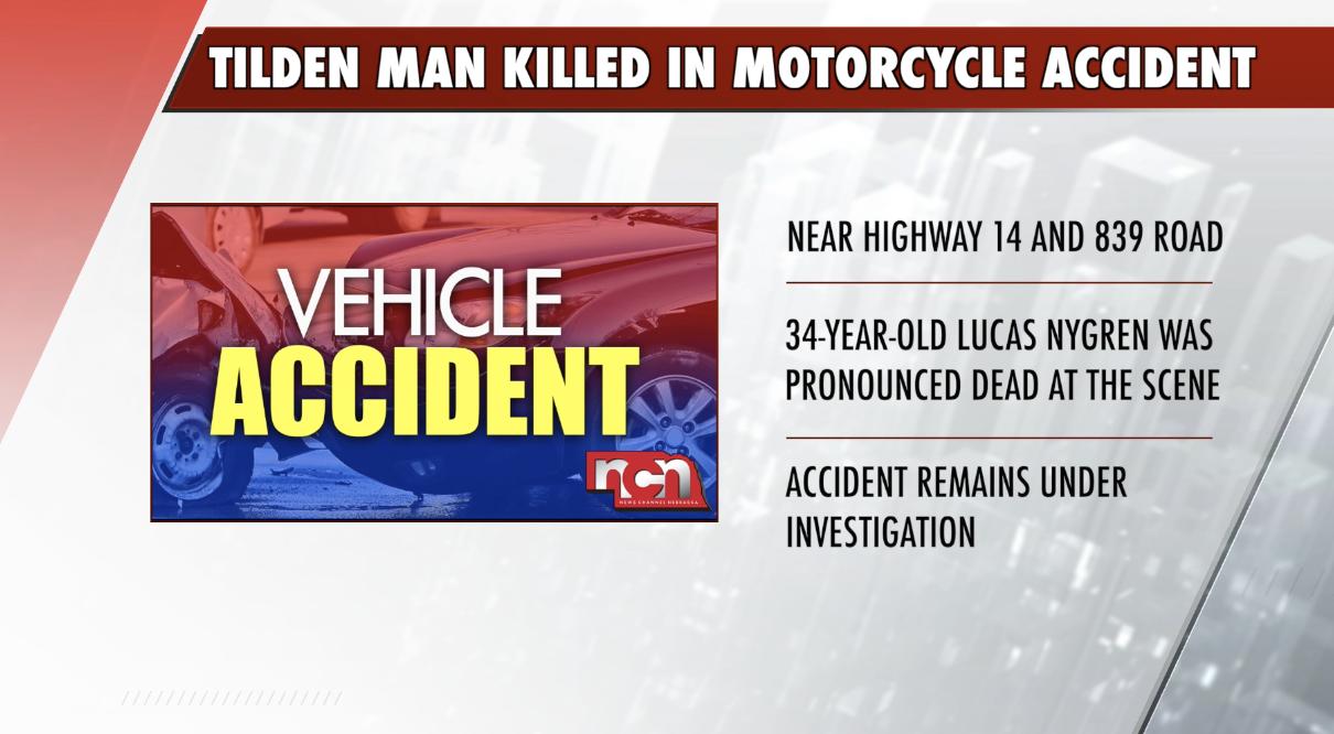Death in Tilden motorcycle accident