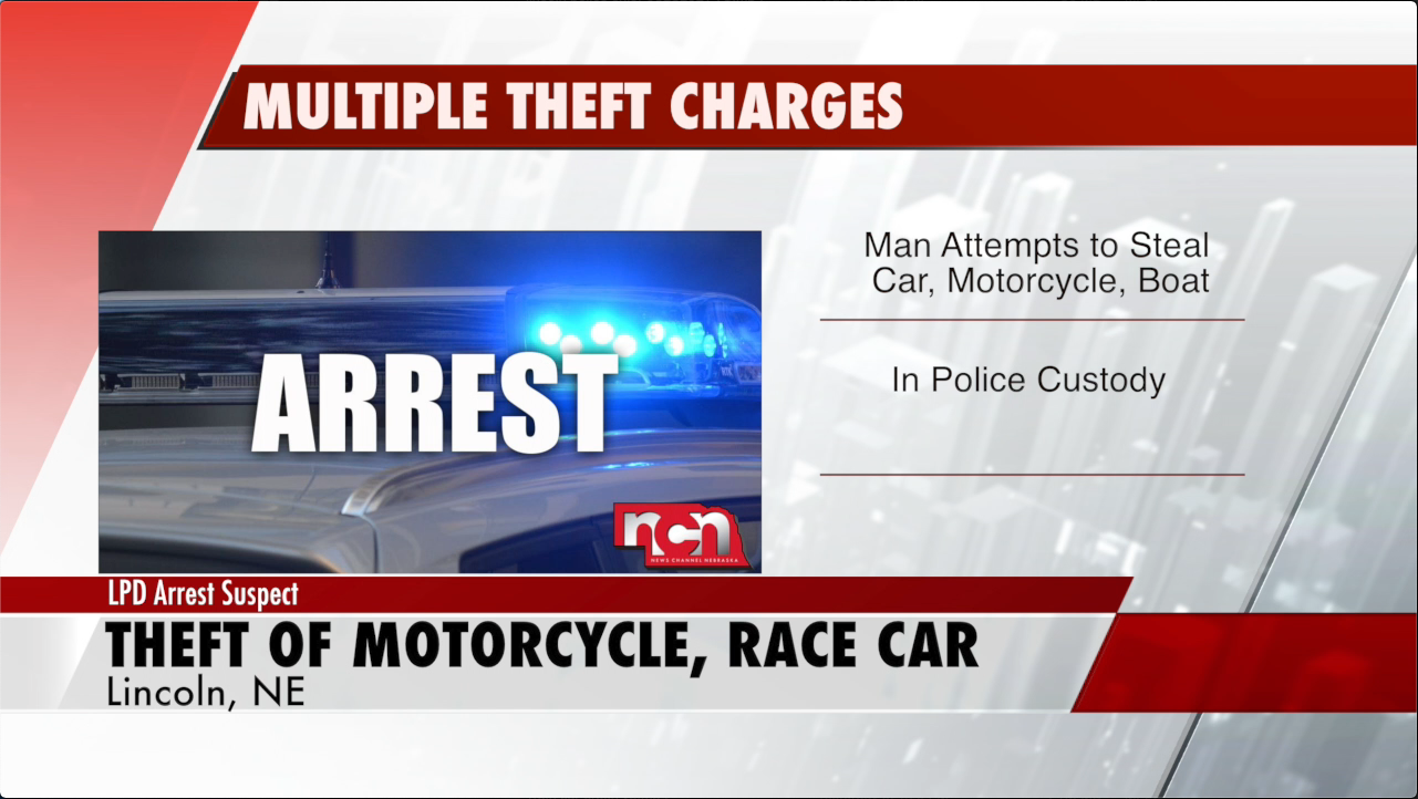 LPD report attempted theft of race car, boat, and motorcycle