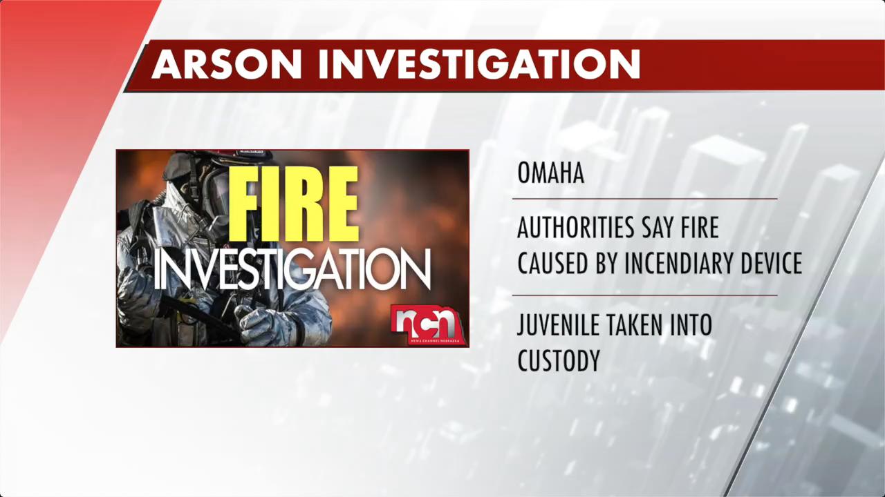 Juvenile taken into custody after fire