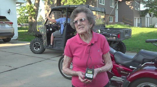 Community surprises eldest with parade, motorcycle ride