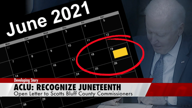 Calling for Scotts Bluff to recognize Juneteenth