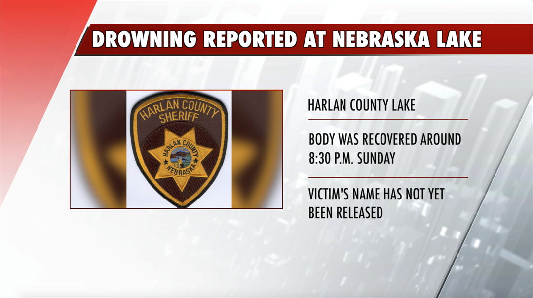 Death due to drowning reported at Nebraska lake