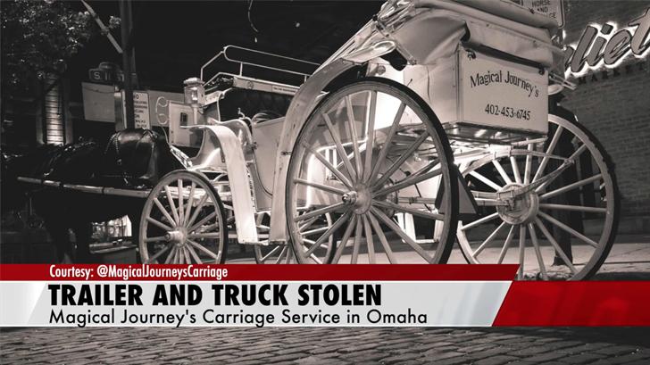 Truck, horse trailer truck stolen from Old Market business