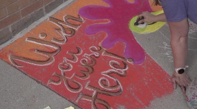 'Art seeds': Sidewalk creativity moves Wayne Chicken Show in artistic direction